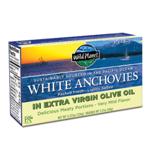 Product Review: Wild Planet White Anchovies in Extra Virgin Olive Oil