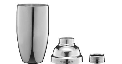 The <em>At Home Bar</em> Premium Cocktail Shaker and Jigger Bar Set