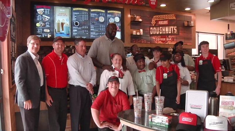 Holy Hot Lights! Shaq Owns a Krispy Kreme in Atlanta!