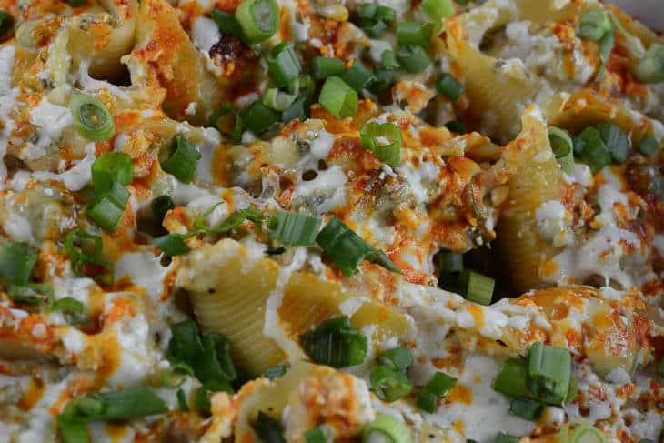 Paleo Buffalo Chicken Stuffed Shells