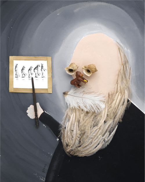 Charles Darwin By Hanoch Piven