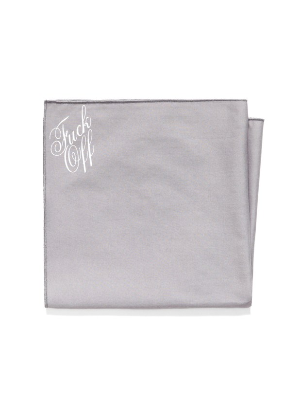 Mark McNairy Fuck Off Pocket Square Collection