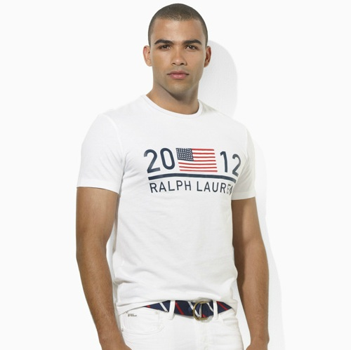 Polo Ralph Lauren 2012 U.S. Olympic Collection Team USA RL Ringer T-Shirt