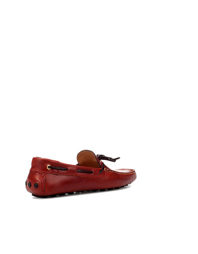 Zara Men's Red Driver With Contrasting Bow