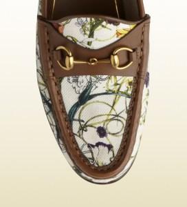 Gucci Anniversary Horsebit Loafer In Mini Flora Infinity Canvas