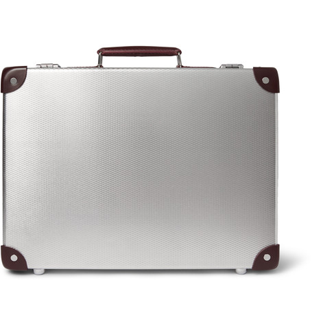 Globe-Trotter EKOCYCLE™ Leather-Trimmed Aluminium Attache Case