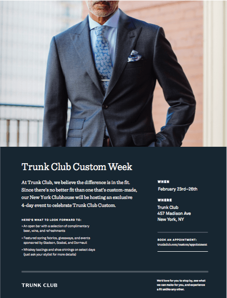 Trunk Club Custom Week