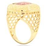 Avianne Jewelers 14K Gold Mens Amethyst Pinky Ring