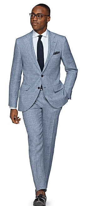 Suitsupply Lazio Blue Check Suit