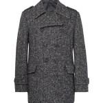 Wooster + Lardini Herringbone Wool Peacoat