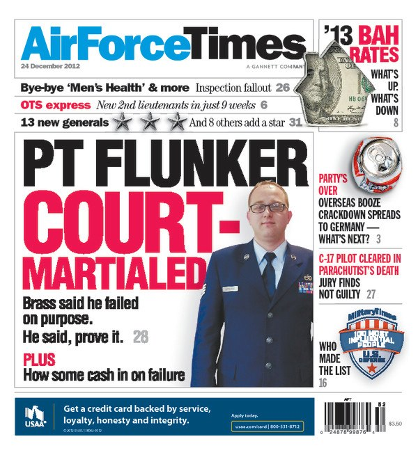 Airman acquitted of purportedly failing PT test to collect ...