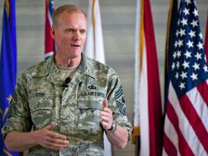 Chief Master Sergeant of the Air Force James Cody. (Samuel King Jr. /Air Force)