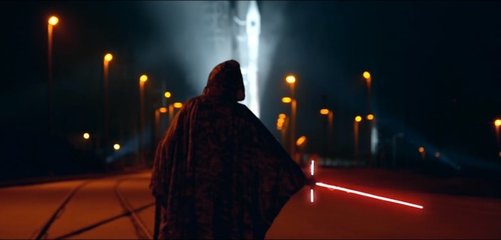 Screenshot from the 45th Space Wing's Star Wars parody trailer. (45th Space Wing)