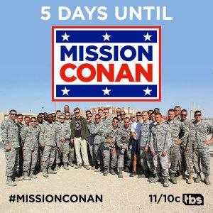 #MissionConan, showing Conan's Al Udeid hijinks, airs on TBS Monday Jan. 25.