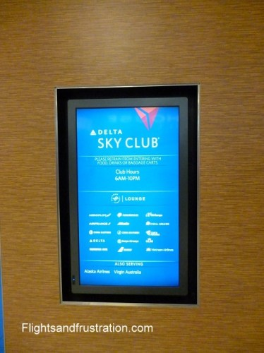 Outside the Delta Sky Club