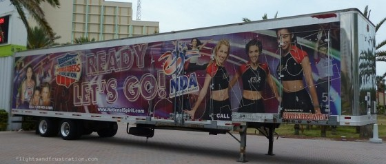 National Cheerleaders Association truck