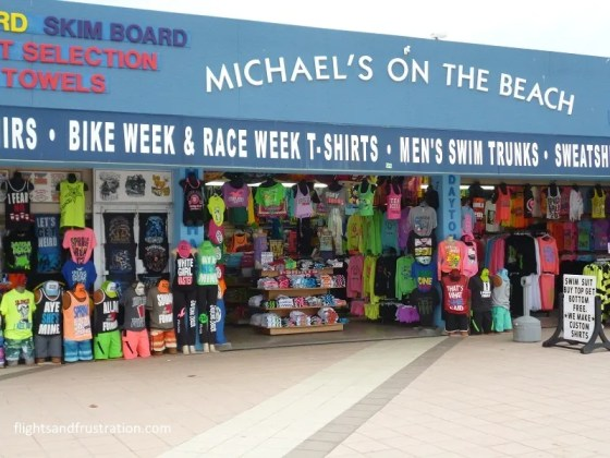 Souvenir shop at Daytona Beach