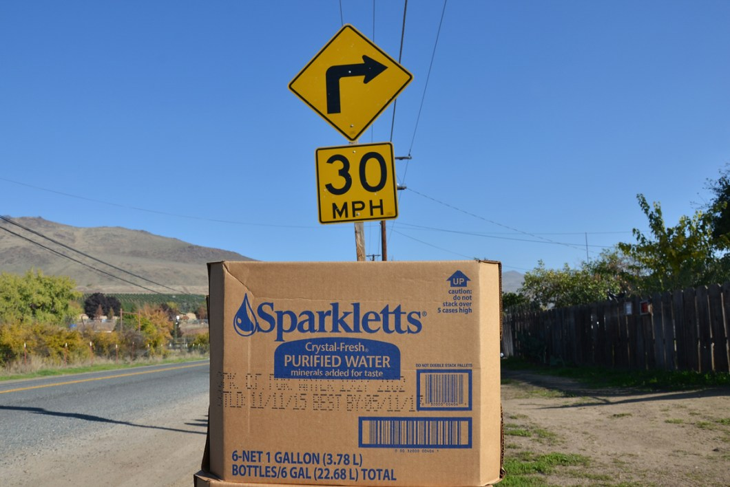In East Porterville emergency supply of drinking water to homes.