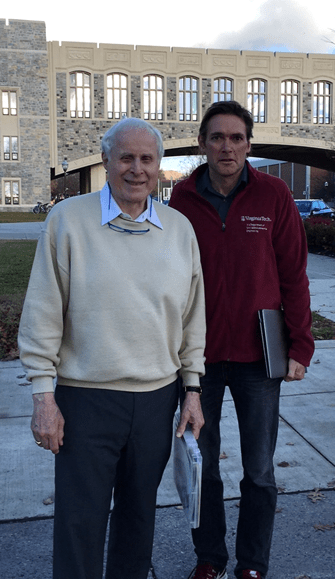 Figure 1. In the footsteps of Peter Buxtun. Peter and Marc at Virginia Tech December 2016.
