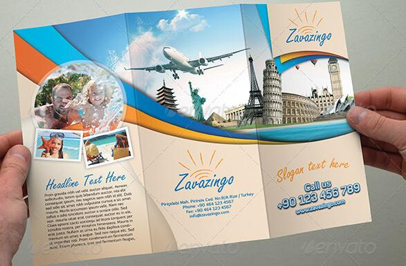 10 Beautiful Trifold Travel Brochure Tempaltes     PSD  PDF  Indesign     travel marketing materials1