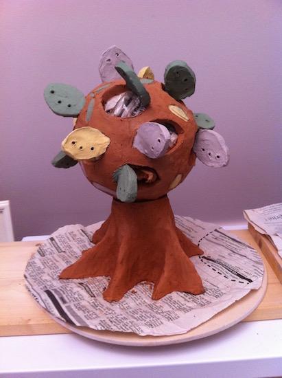 arbre - terre cuite - engobe