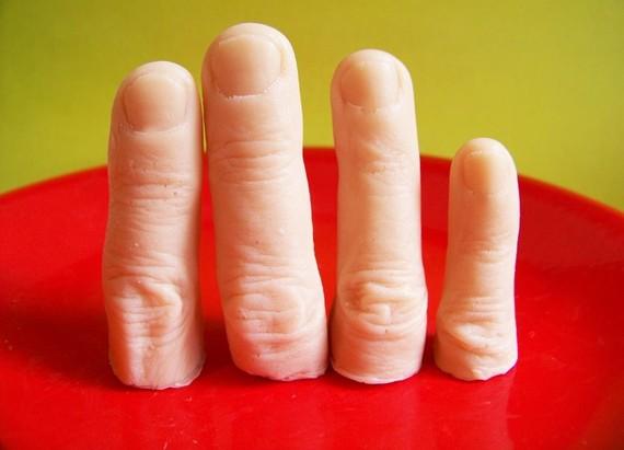 嚇人的手指形狀香皂