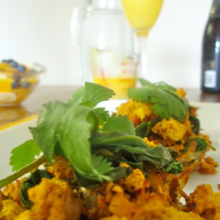 Tofu Scramble Nests