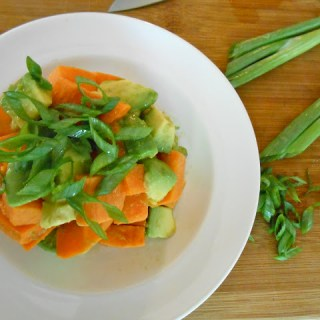 Sweet Wasabi Yam & Avocado Salad