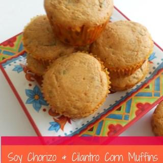 Soy Chorizo & Cilantro Corn Muffins