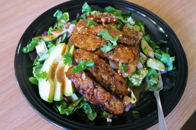 ginger-soy marinated tempeh salad