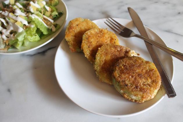 saltine crusted fried green tomatoes
