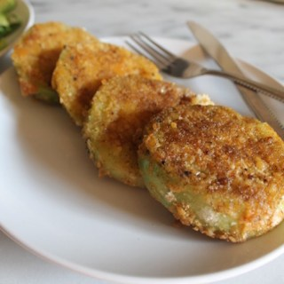 Saltine-Crusted Fried Green Tomatoes