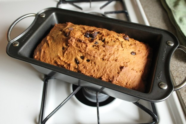chocolate chip chai pumpkin bread