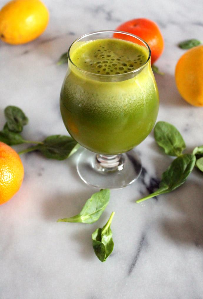 bright citrus green juice