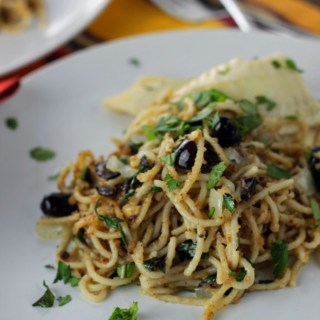 Anchovy Bread Crumb Pasta