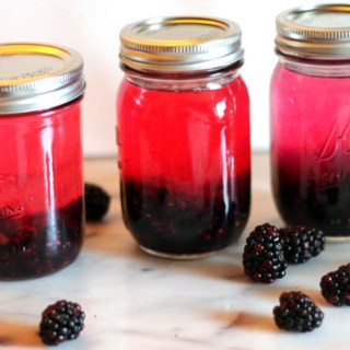 Homemade Blackberry Vodka + Thyme Simple Syrup
