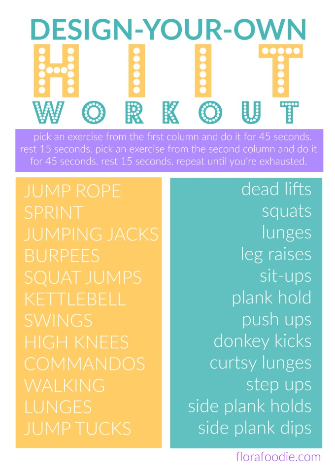 design your own HIIT workout