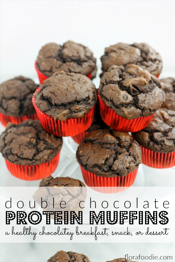 Double Chocolate Protein Muffins | Flora Foodie