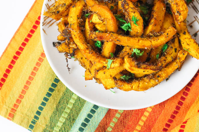 Herb Smothered Roasted Pumpkin