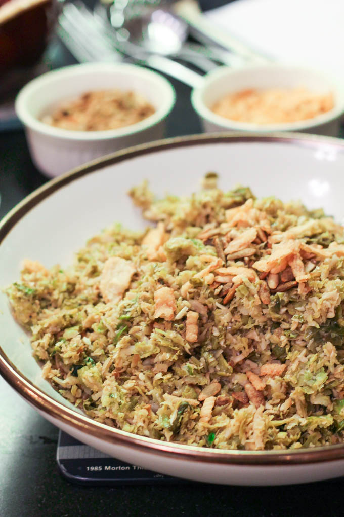 Shredded Balsamic + Garlic Brussels Sprouts