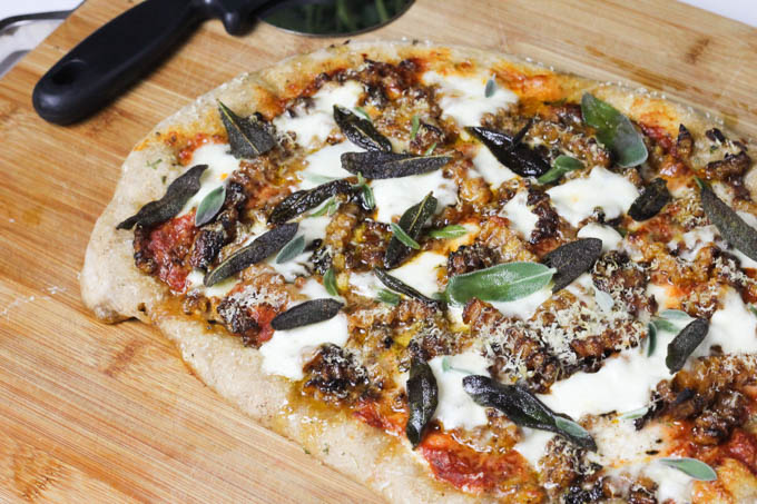Butternut Squash Burrata + Fried Sage Pizza