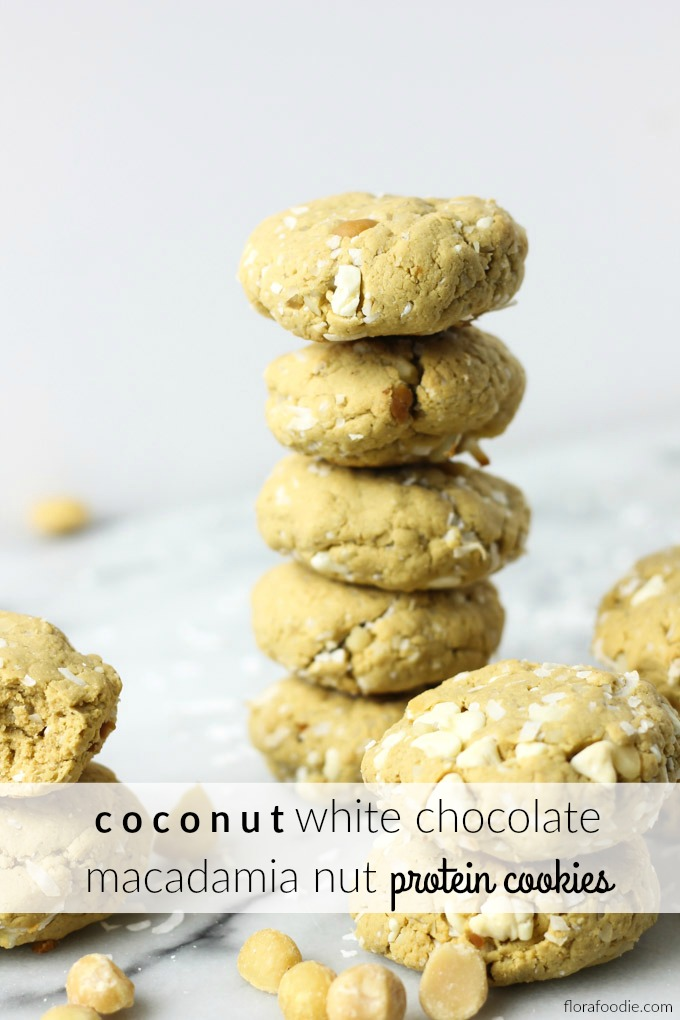Coconut White Chocolate Macadamia Nut Protein Cookies