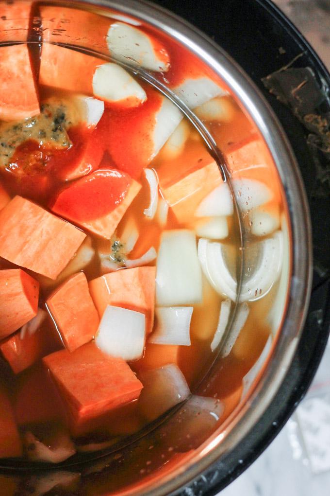 Instant Pot Sriracha Sweet Potato Soup