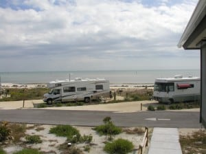 Beachfront campsites at Curry Hammock State Park
