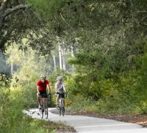 The 7-mile Starkey bike trail connects to the 42-mile-long Suncoast Trail