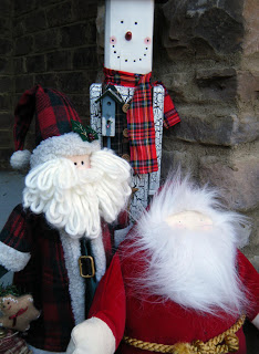 Santa & Snowman decorations