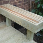 Wooden Deck Bench
