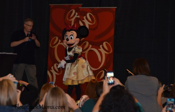 Minnie Mouse makes a guest appearance at Type A Parent Conference in Atlanta with Disney Parks Blog's Gary Buchanan