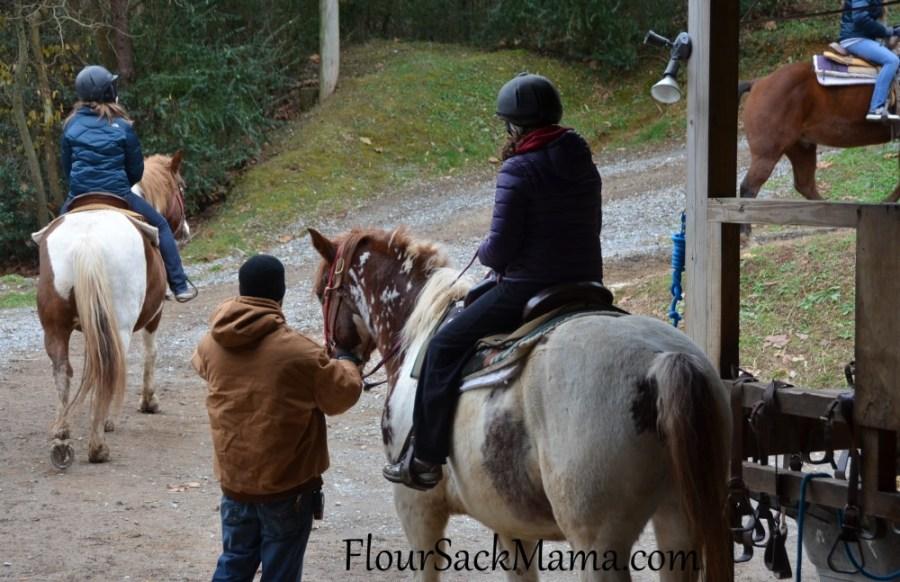HorsesRidersDepartFlourSackMama
