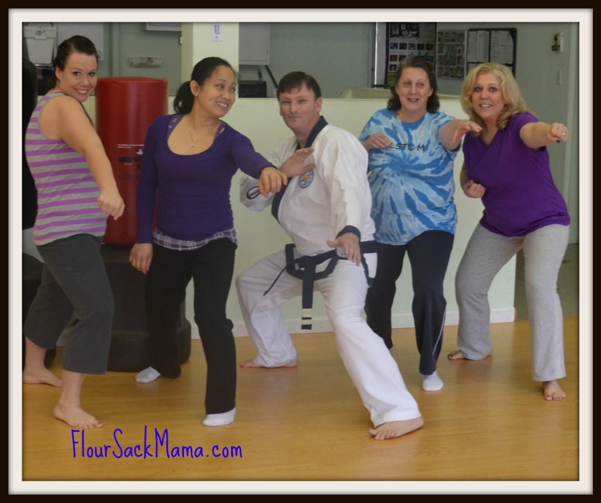 KarateClass1FlourSackMama
